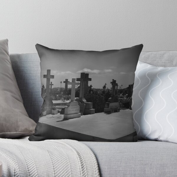 Spanish Graveyard Throw Pillow