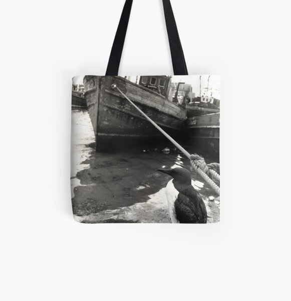 Bird on a Wire All Over Print Tote Bag