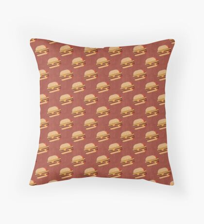 FAST FOOD / Burger - pattern Throw Pillow