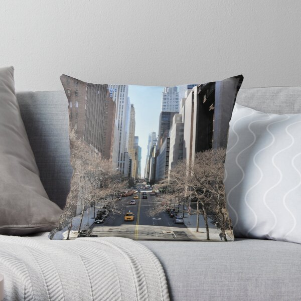 42nd Street in March 2011 Throw Pillow