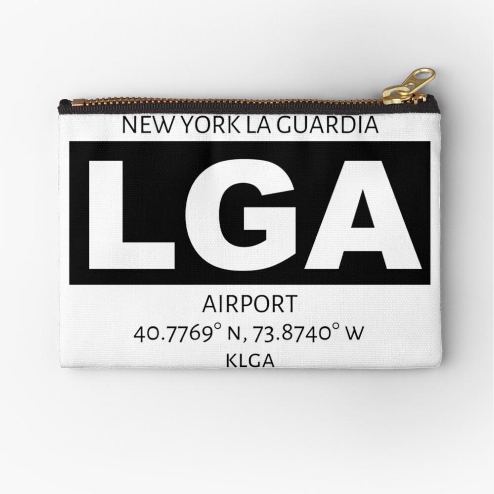 New York La Guardia Airport LGA Zipper Pouch