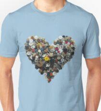 Button heart (not Moon) T-Shirt