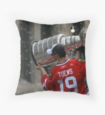 TAZER WITH THE STANLEY CUP! Throw Pillow
