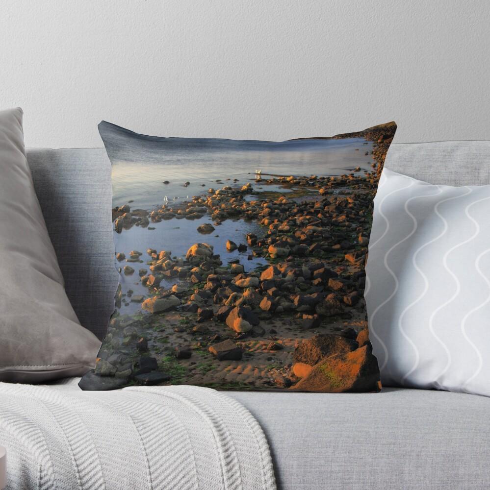 Twilight at the Rocks Throw Pillow