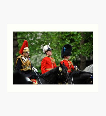 Three Big Hats: Trooping the Colours. London. UK Art Print