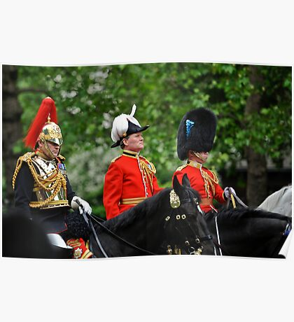 Three Big Hats: Trooping the Colours. London. UK Poster