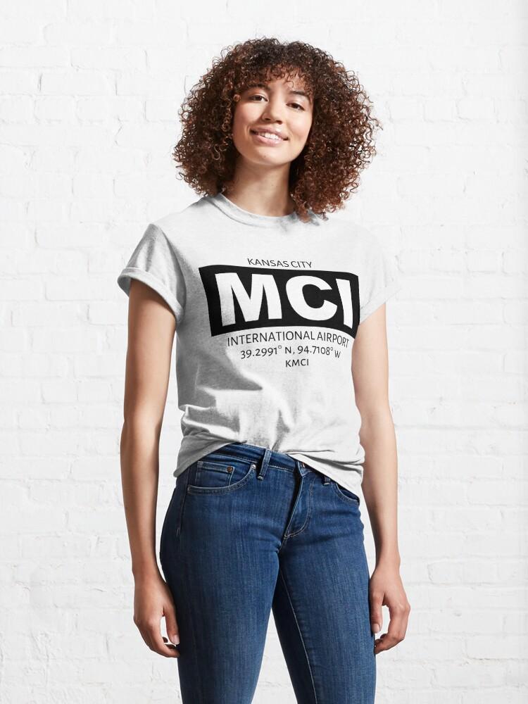 Alternate view of Kansas City International Airport MCI Classic T-Shirt