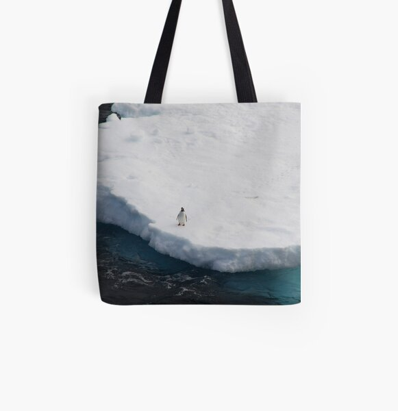The Lone Penguin All Over Print Tote Bag