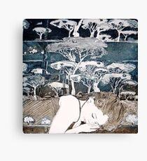 """Dreaming of Life"" Aquatint Etching Canvas Print"