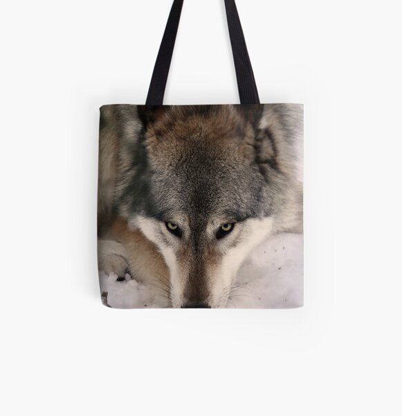 Wolf's Dinner All Over Print Tote Bag