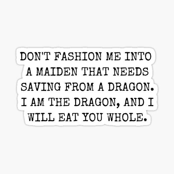 Dragon of Feminism - Font #3 Sticker