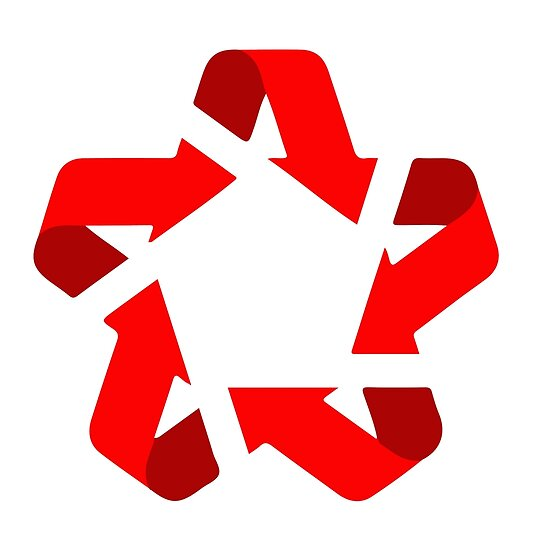Recycle Red Star Symbol Of New Communism Era Posters By