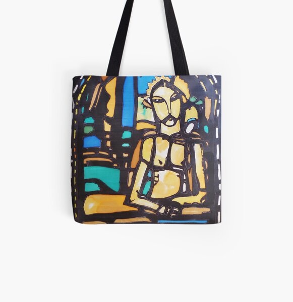 Silkpainting of stained glass window - where in US is it? All Over Print Tote Bag