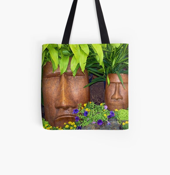 Tiki All Over Print Tote Bag