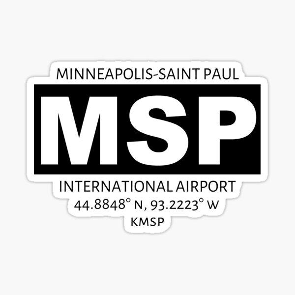 Minneapolis-St Paul International Airport MSP Sticker