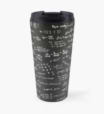 Blackboard With Math Formulars Travel Mug