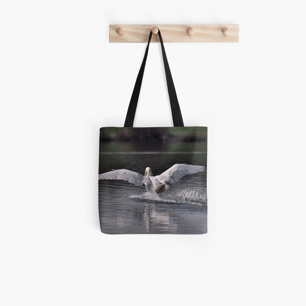 Swan: Landing Tote Bag