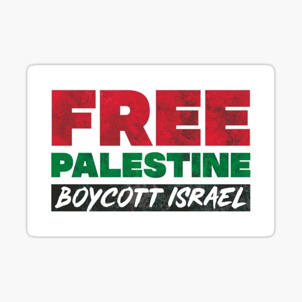 Free Palestine, Boycott Israel Sticker
