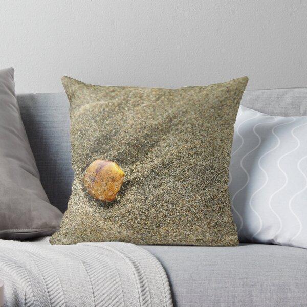 Pebble on sand Throw Pillow