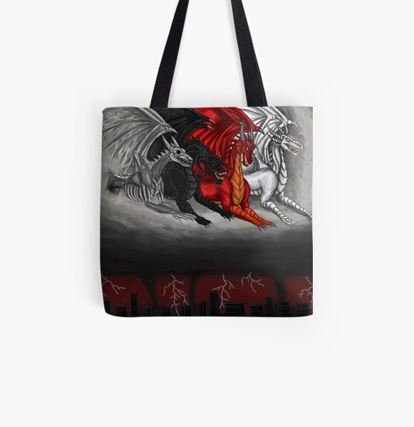 Dragons of the Apocalypse  All Over Print Tote Bag