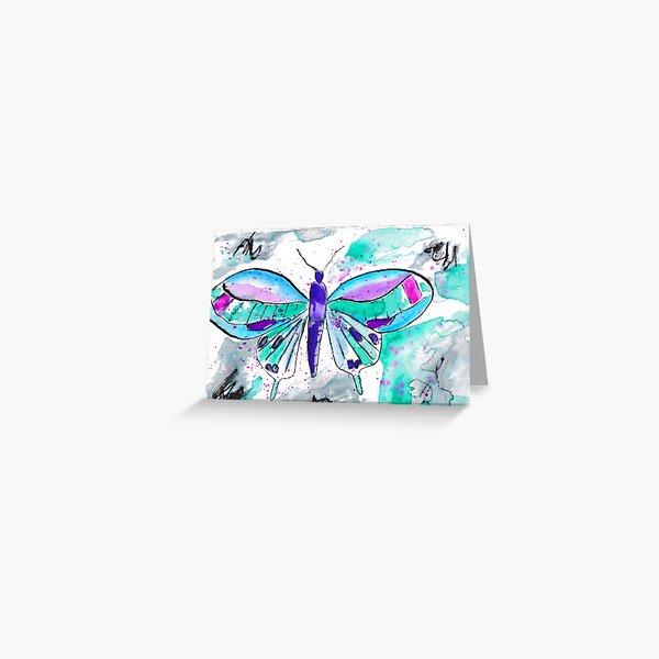 Elegant Pen Butterfly Greeting Card