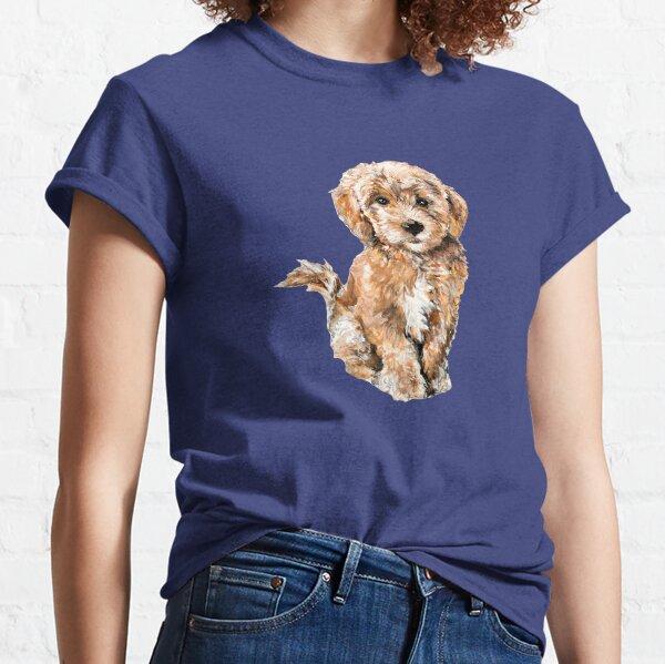 Poodle/ Goldendoodle Puppy Watercolor Illustration Classic T-Shirt