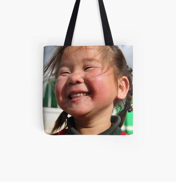 Mongolian girl All Over Print Tote Bag