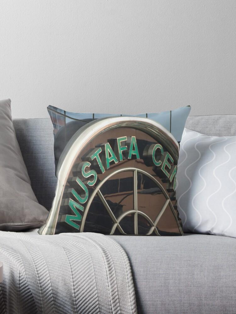 'Mustafa Centre - Singapore' Throw Pillow by BreeDanielle