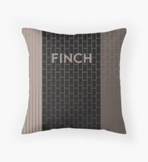 FINCH Subway Station Throw Pillow