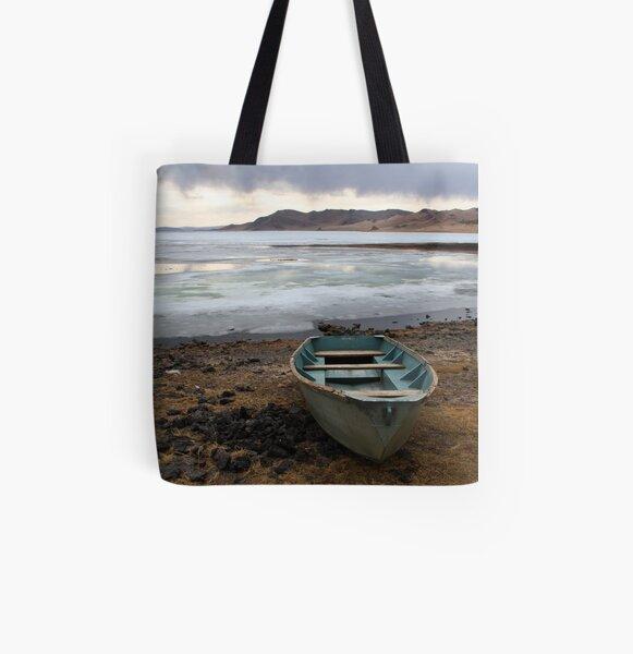 Sunset on the lake All Over Print Tote Bag