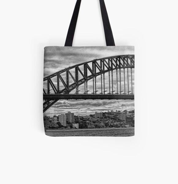 Sydney Harbour Bridge Panorama All Over Print Tote Bag