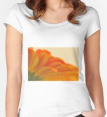 Orange Gerbera Daisy 2, As Is Women's Fitted Scoop T-Shirt