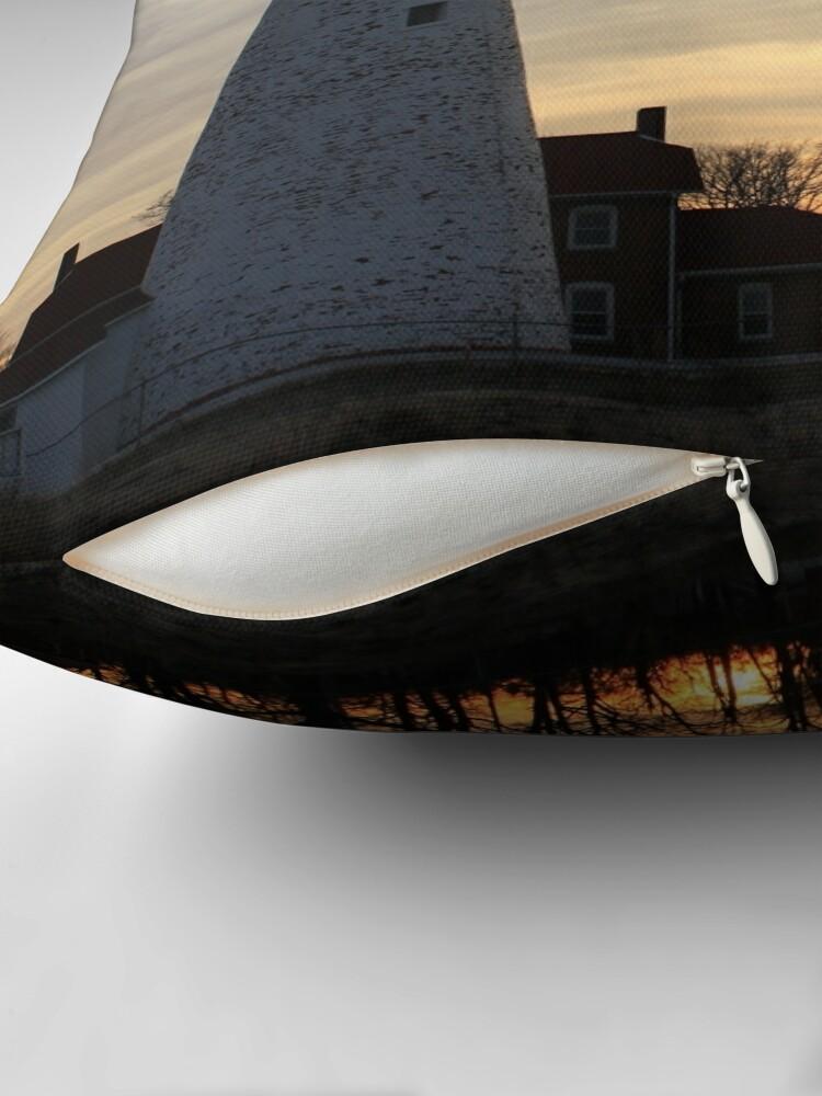 Alternate view of Fort Gratiot Lighthouse #2 Throw Pillow