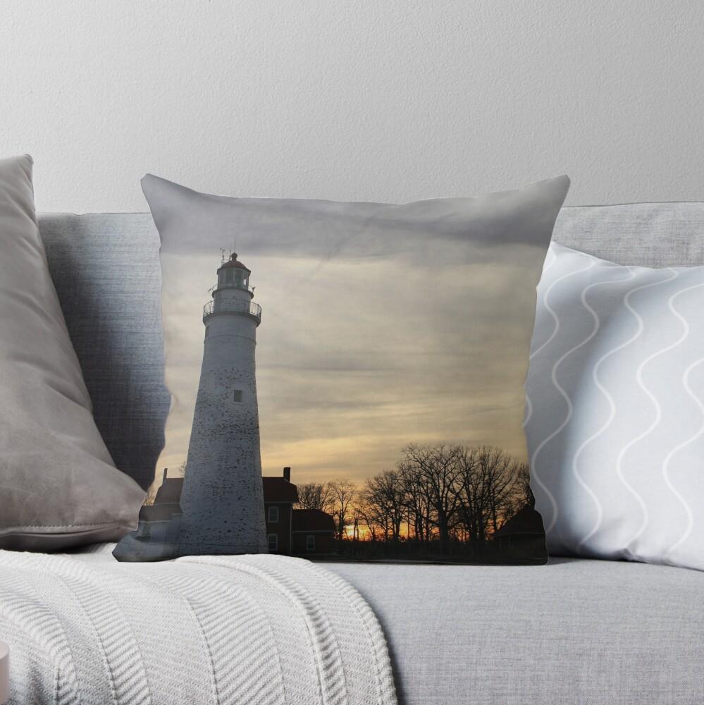 Fort Gratiot Lighthouse #2 Throw Pillow