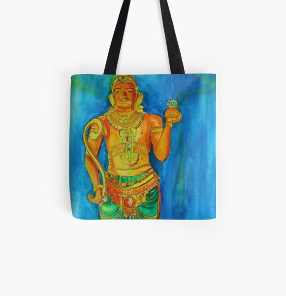 Temple All Over Print Tote Bag