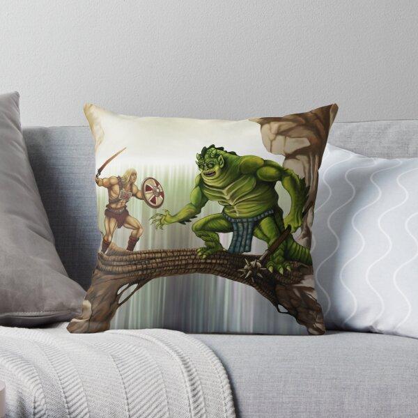 He-Man versus Whiplash Throw Pillow