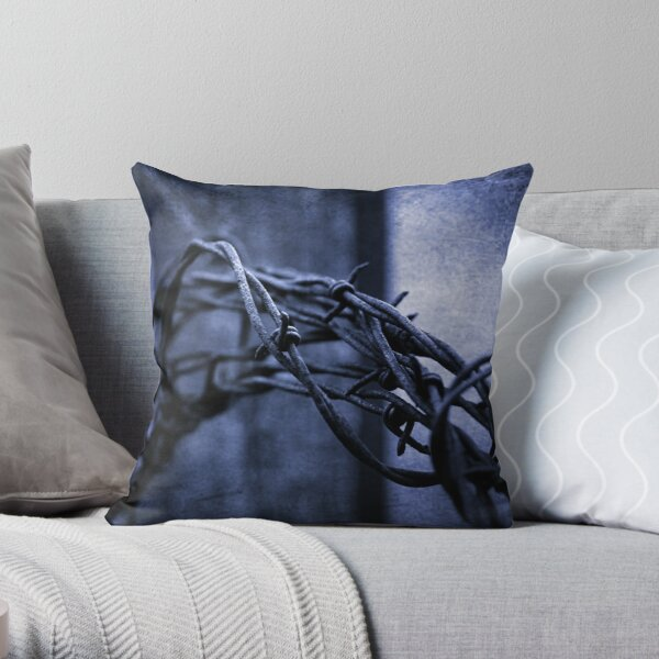 Tangled Up In Blue Throw Pillow