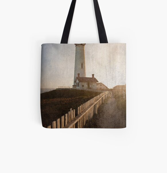 Pigeon Point Lighthouse All Over Print Tote Bag