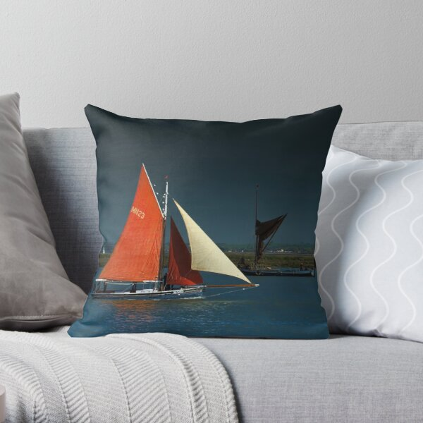 Sailing Smack The Lizzie Annie Throw Pillow