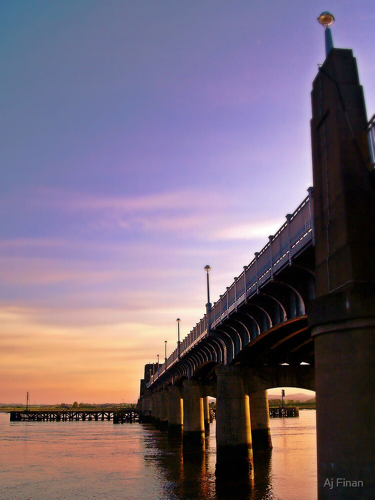 The Kincardine Bridge At Dusk, Scotland by Aj Finan