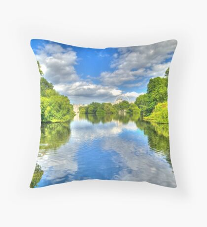 Mirrored in St James's Park, London (HDR) Throw Pillow
