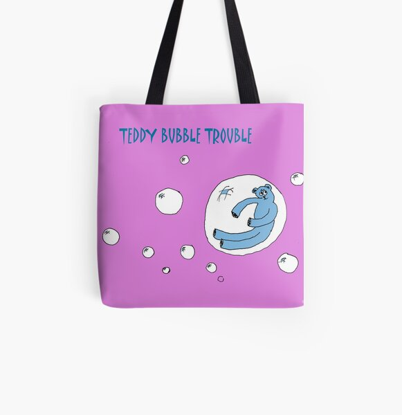 TEDDY BUBBLE TROUBLE All Over Print Tote Bag