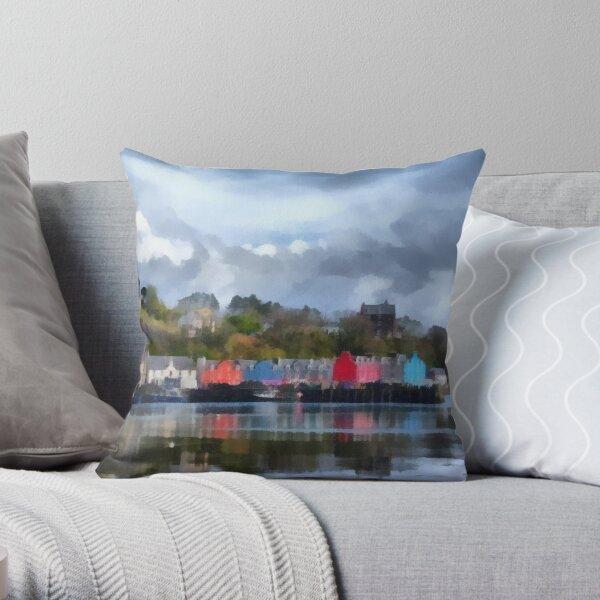Tobermory, Mull Throw Pillow