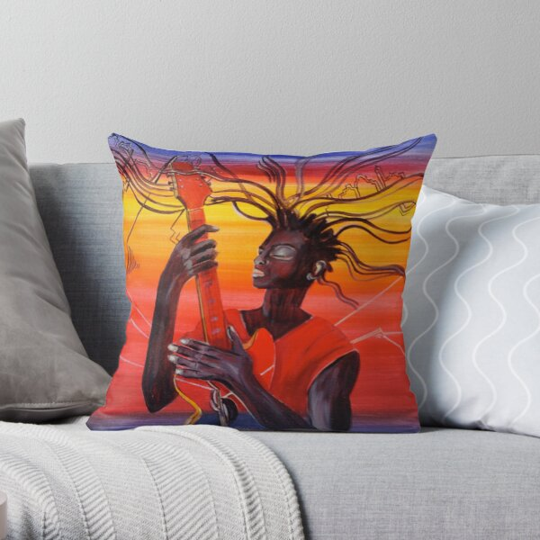 Guitar Men Throw Pillow