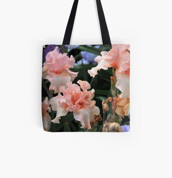 Auvers Iris L All Over Print Tote Bag