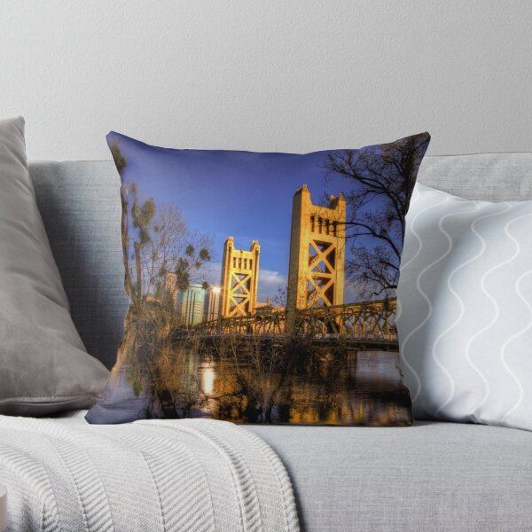 Tower Bridge, Sacramento, CA Throw Pillow