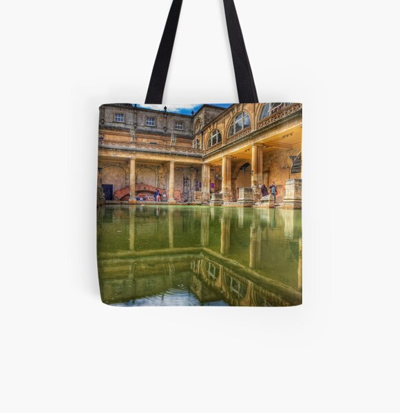 The Great Bath, in Bath, U.K. All Over Print Tote Bag