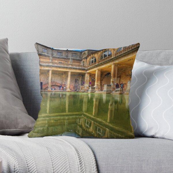 The Great Bath, in Bath, U.K. Throw Pillow