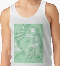 Hawaiian Island Print Tropical Palm Leaves  Jungle Flowers Banana Lime Green Tank Top