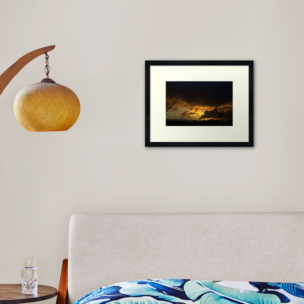 Burning Sky Framed Art Print